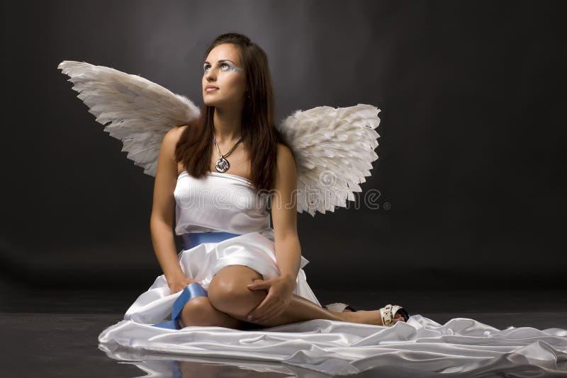 ангела детеныши довольно стоковое фото rf