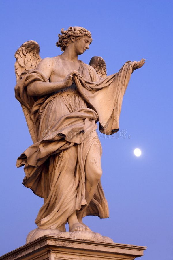ангелы ангела наводят статую rome стоковая фотография