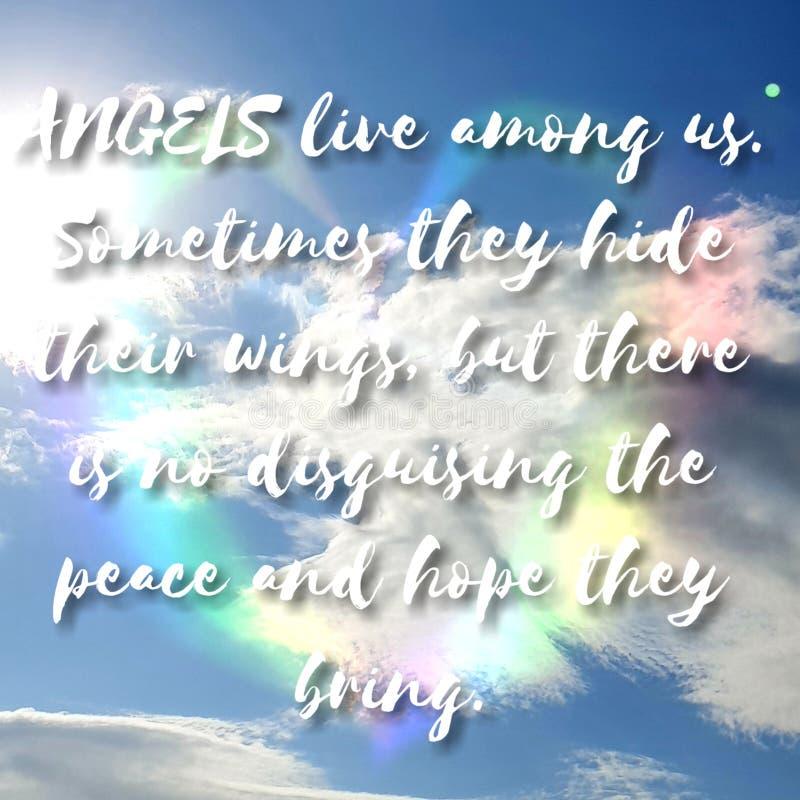 Ангелы живут среди нас стоковая фотография