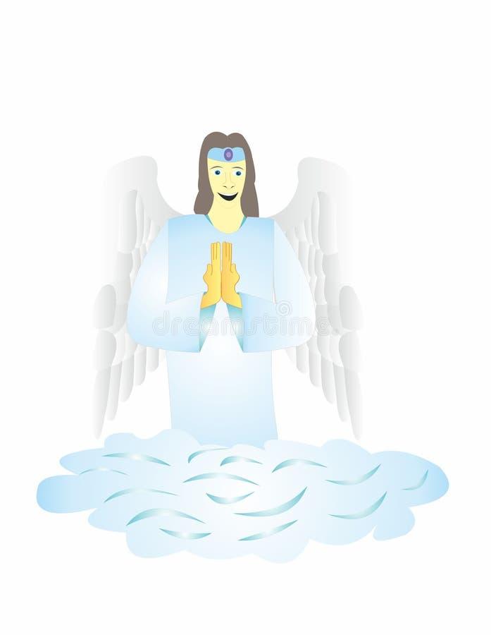 Ангелы молят для людей иллюстрация вектора
