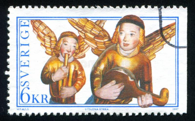Ангелы от altarpiece стоковое фото rf