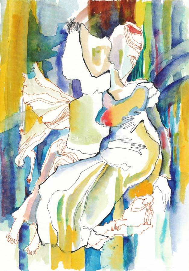 ангелы иллюстрация вектора
