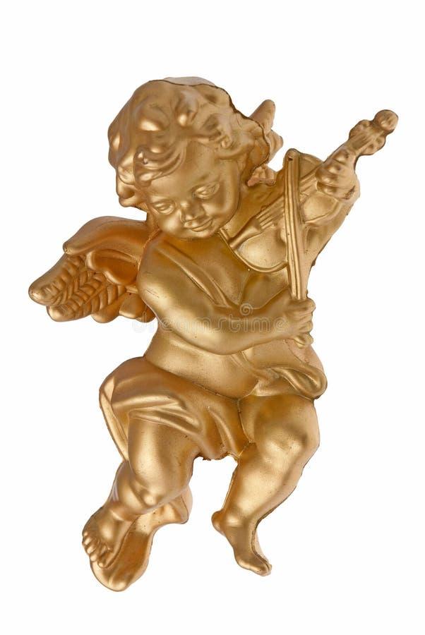 ангел играя скрипку стоковое фото