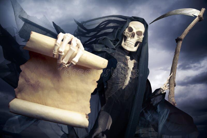 Ангел мрачного жнеца смерти стоковое изображение