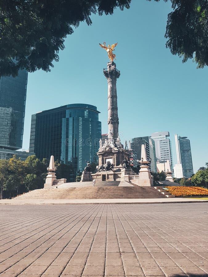 Ангел независимости, Мехико, Мексики стоковые фотографии rf