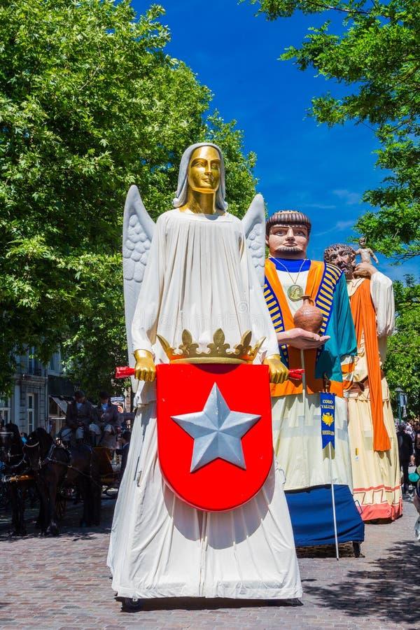Ангел от Маастрихта одного 3 гигантов от городка Маастрихта стоковая фотография