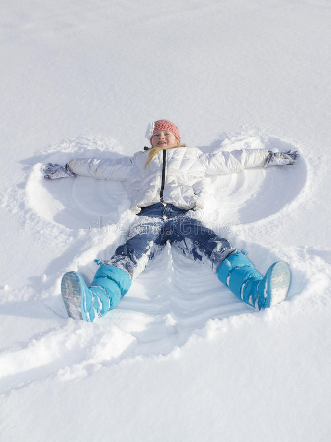 Ангел снежка стоковое изображение