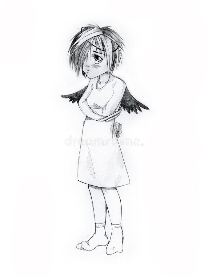 ангел унылый стоковые фотографии rf