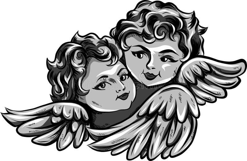 Ангел-хранители бесплатная иллюстрация