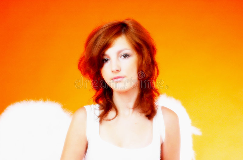 ангел 2 милый стоковое изображение