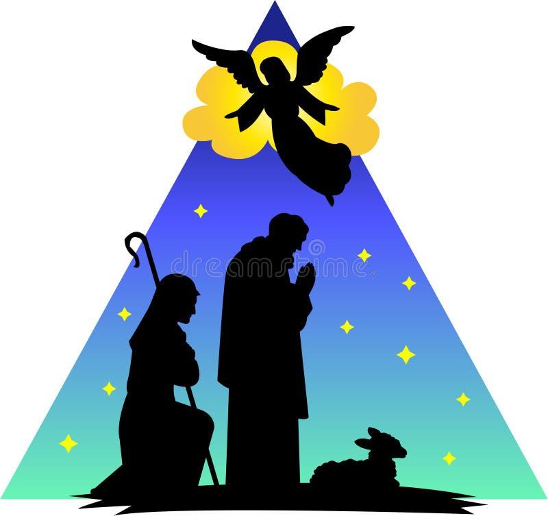 ангел eps shepherds силуэт иллюстрация вектора