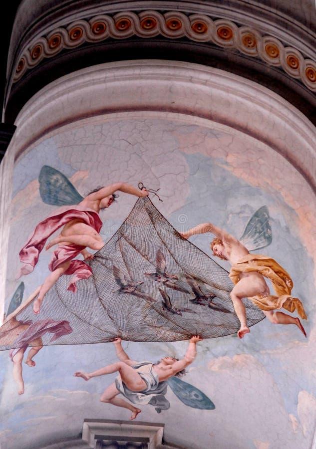 4 ангела с сетью стоковое изображение