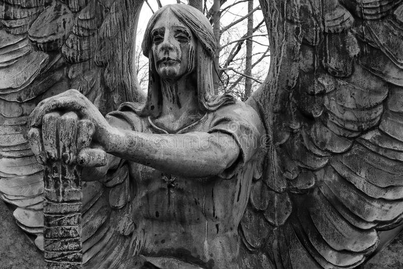 ангел плача стоковые фотографии rf