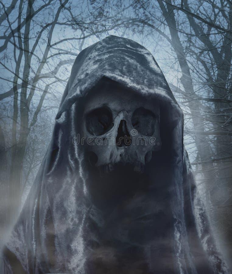 Ангел смерти Демон темноты Photomanipulation стоковые изображения
