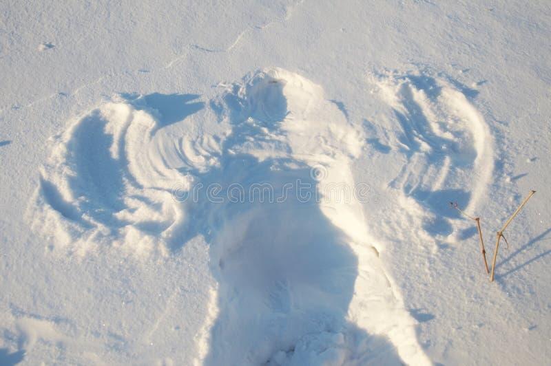 Ангел снега стоковые изображения