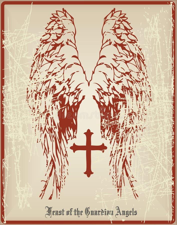 Ангел-хранители праздника карточки бесплатная иллюстрация