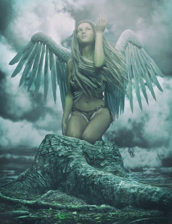 Ангел-хранитель иллюстрация вектора