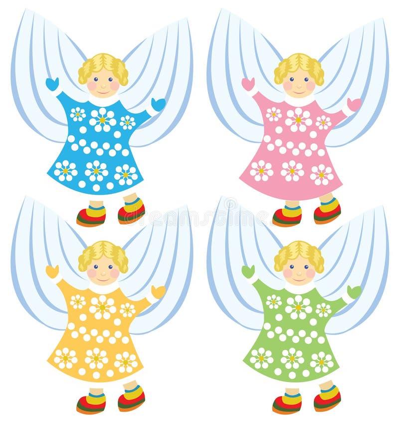 Download Ангелы шаржа вектора иллюстрация вектора. иллюстрации насчитывающей сторона - 37927256