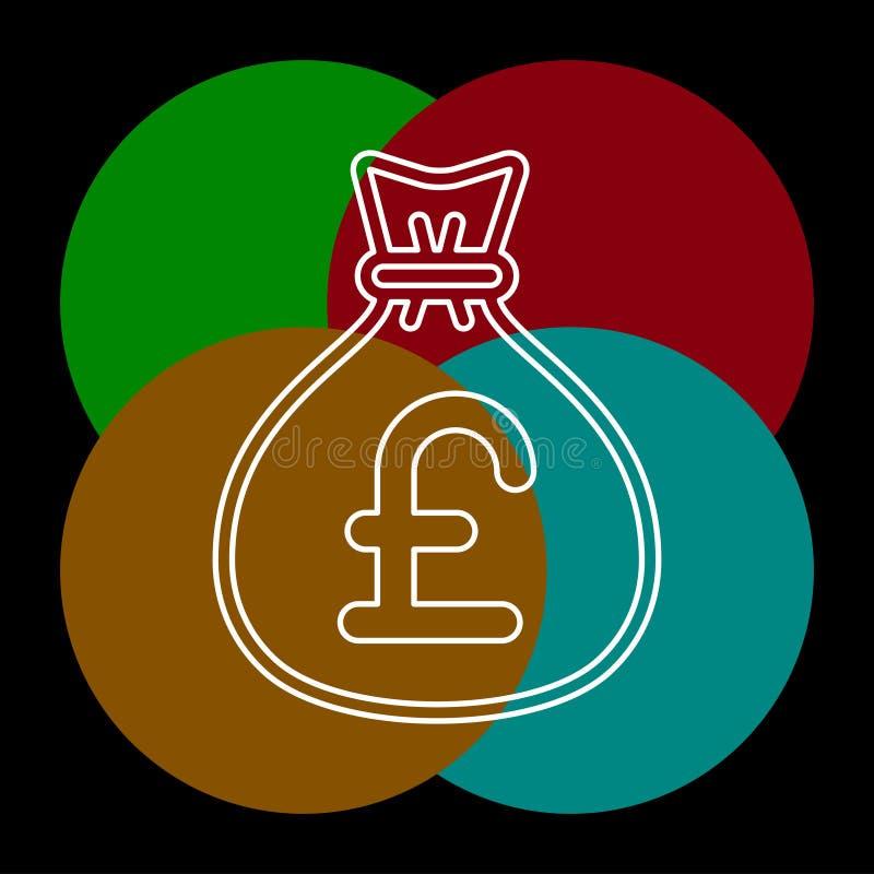 Английская иллюстрация сумки денег фунта бесплатная иллюстрация