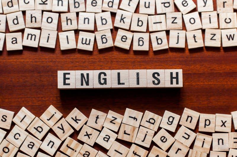 Английская концепция слова иллюстрация вектора