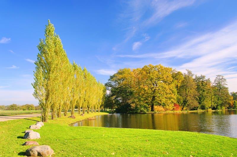 английская язык заземляет woerlitz озера стоковое изображение rf