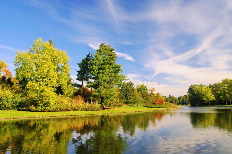 английская язык заземляет woerlitz озера стоковые изображения rf