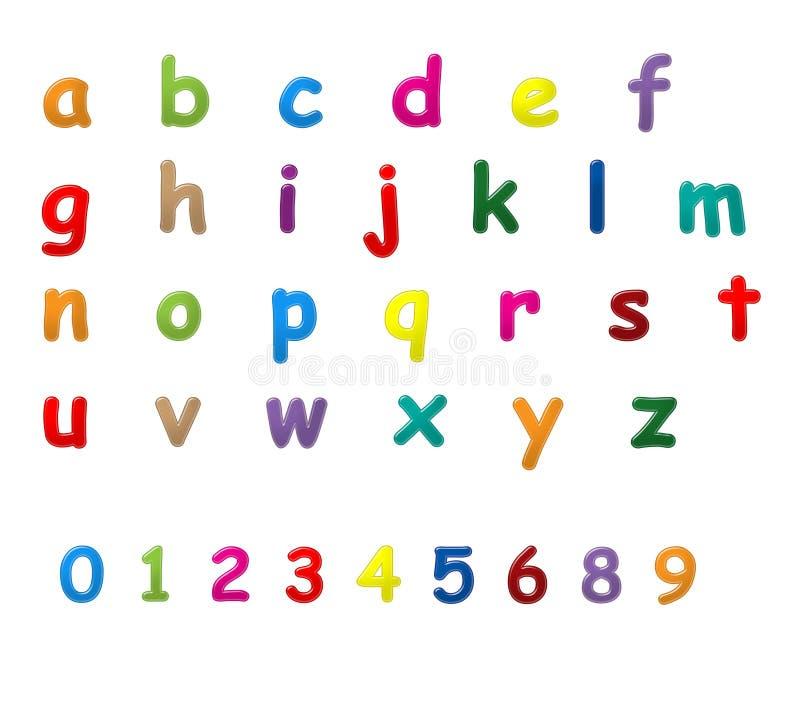 Английская язык помечает буквами a к z бесплатная иллюстрация