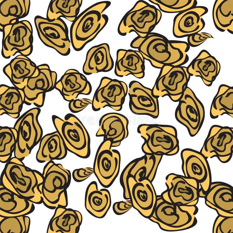 Английские розы безшовные иллюстрация штока