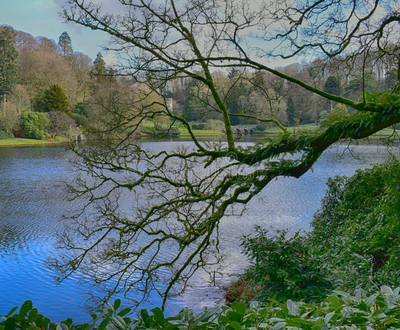 Английский сад загородного дома на Stourhead стоковая фотография