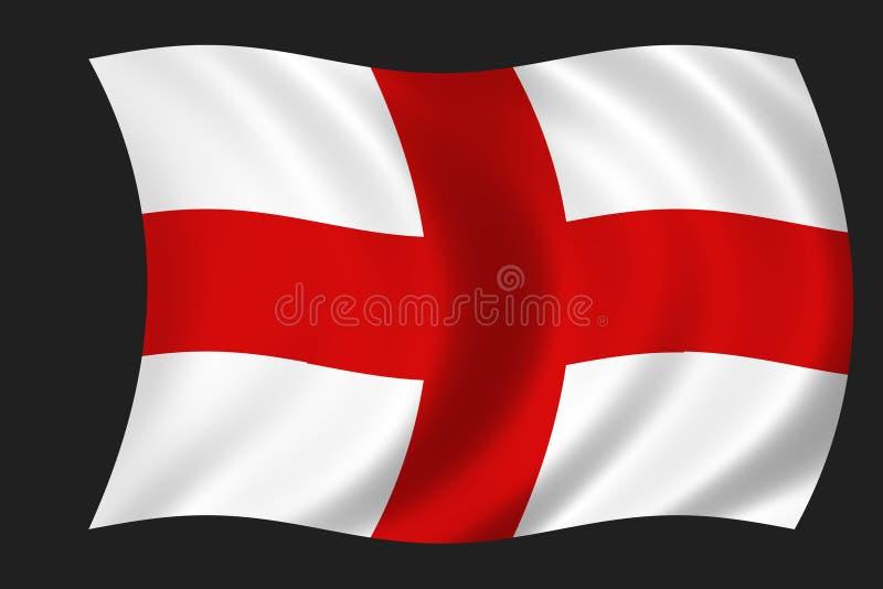 английский флаг иллюстрация вектора
