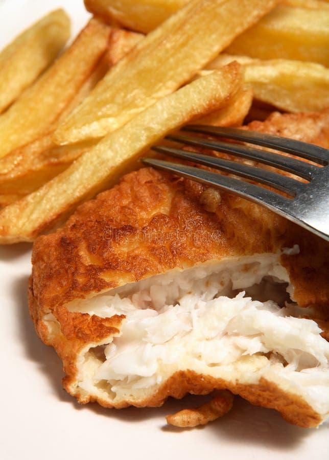 английский франчуз рыб жарит еду стоковое изображение rf