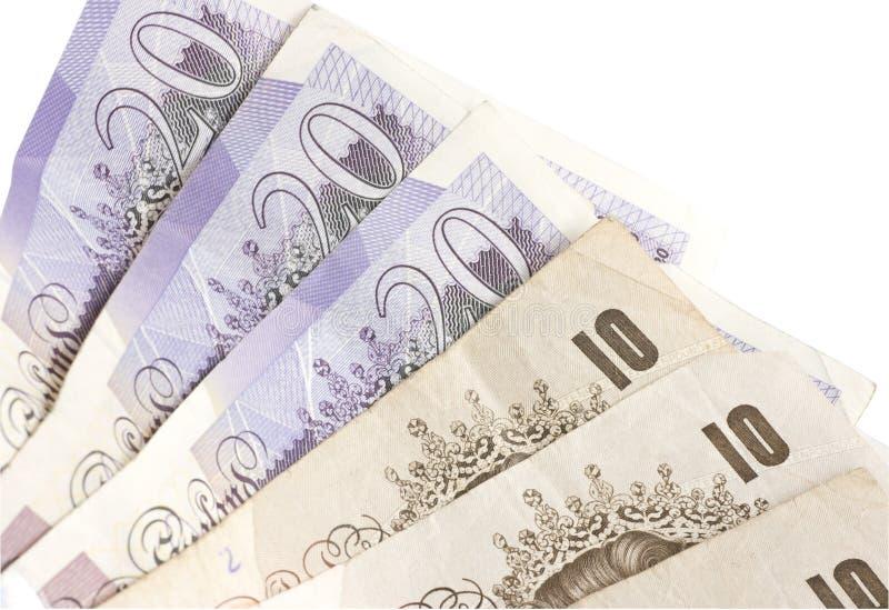 английский фунт 10 20 стоковое изображение rf