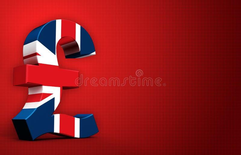 Английский фунт иллюстрация вектора
