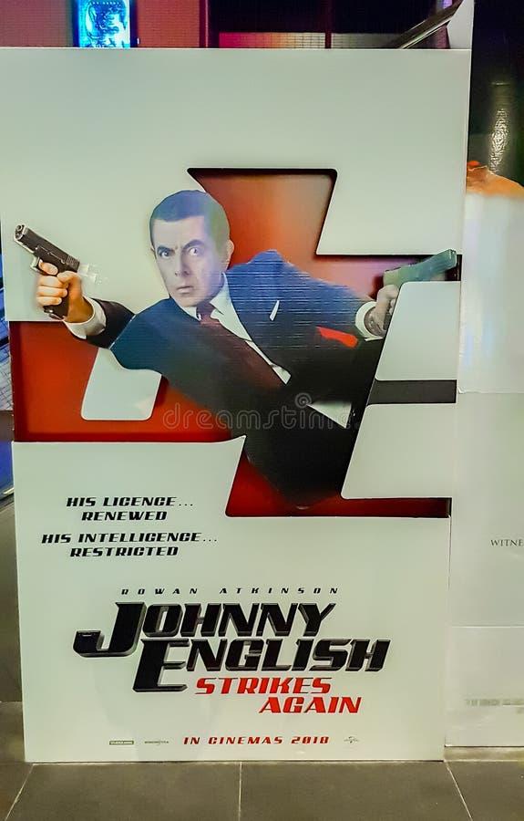 Английский язык Джонни поражает снова стоковые изображения rf