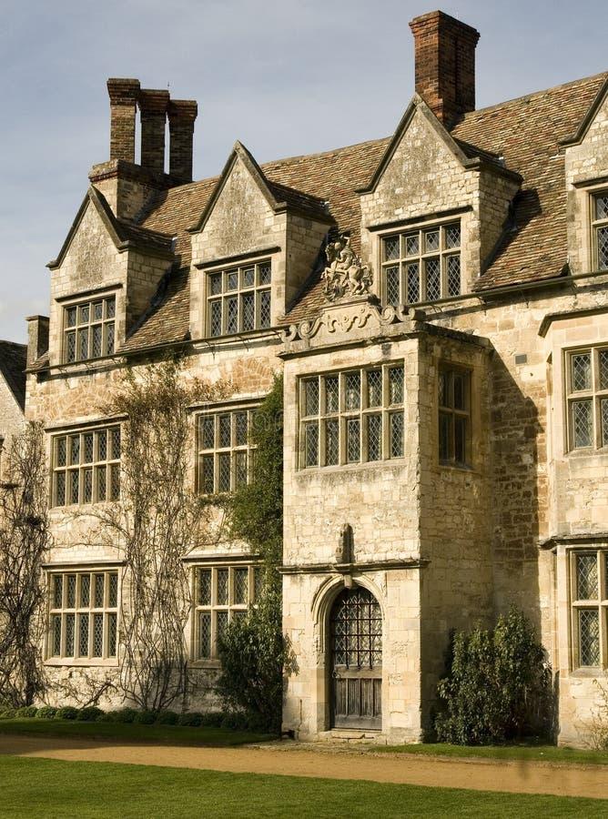 английское поместье дома старое стоковое изображение