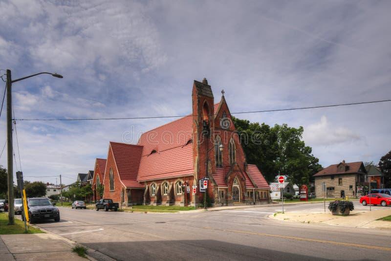 Англиканская церковь троицы в Simcoe, Онтарио, Канаде стоковое изображение rf