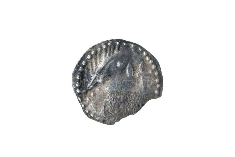Англо Saxon серебряная монетка Sceat предыдущего восьмого века стоковые изображения