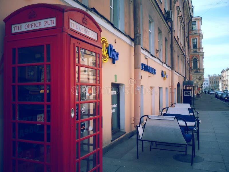 Английская коробка телефона стоковая фотография rf