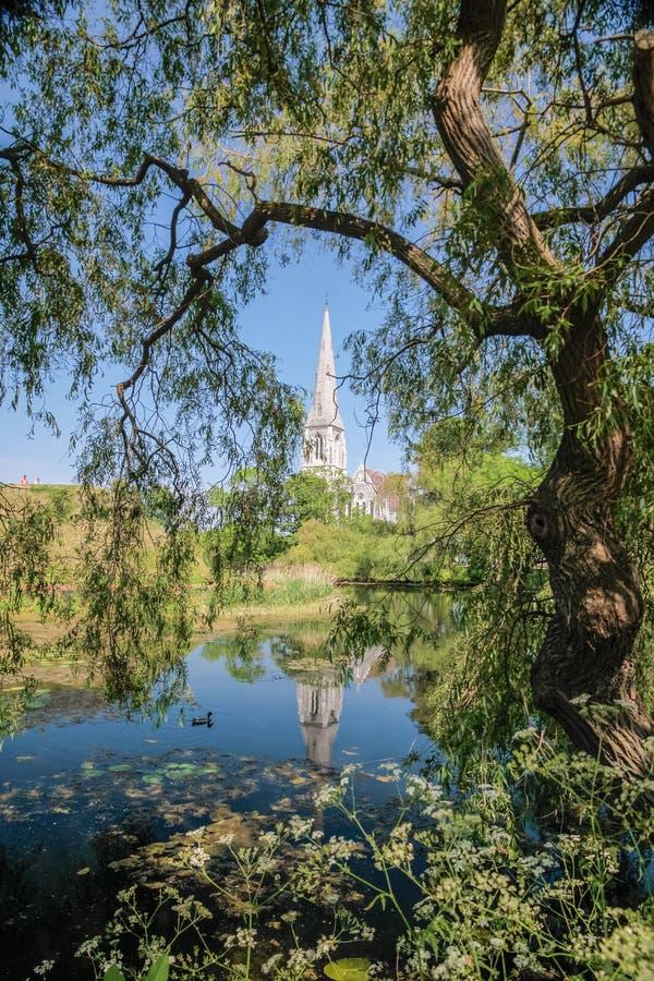 Download Английская церковь Сент-Олбанса в Копенгагене Стоковое Изображение - изображение насчитывающей церковь, sightseeing: 33725519