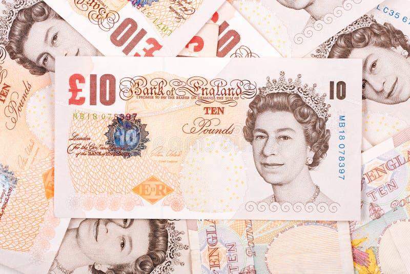 Английские фунты, предпосылка стоковые изображения rf