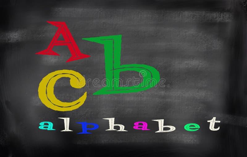 Английский алфавит с цветом funn стоковые фото