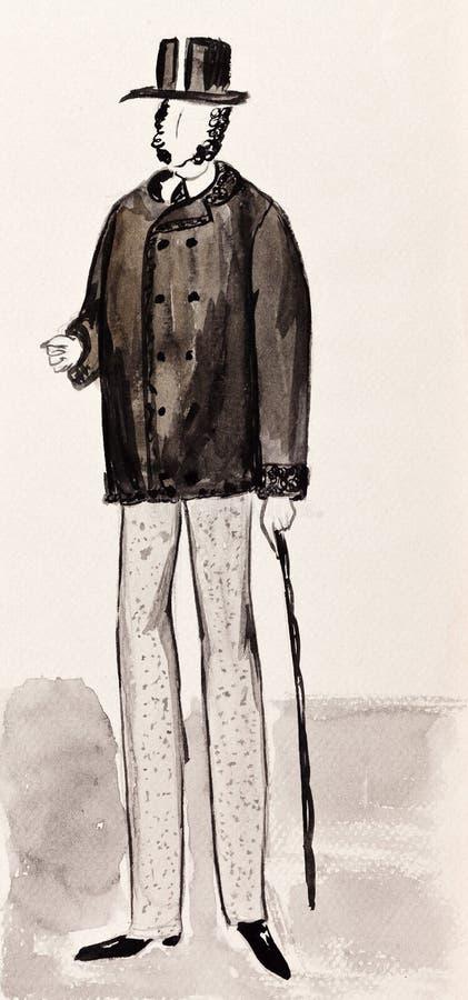 Английский буржуазный джентльмен иллюстрация вектора