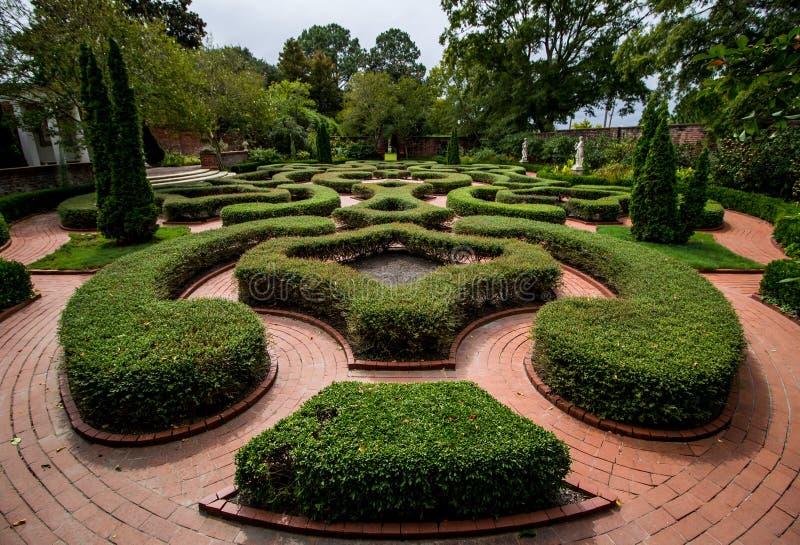 Английский колониальный сад изгороди стоковое изображение rf