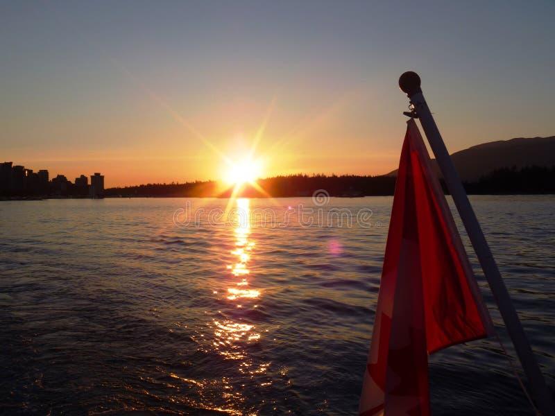 Английский круиз Ванкувер залива, ДО РОЖДЕСТВА ХРИСТОВА, Канада стоковое изображение