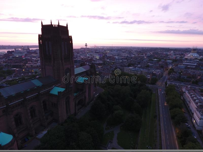 английский собор liverpool стоковые фото
