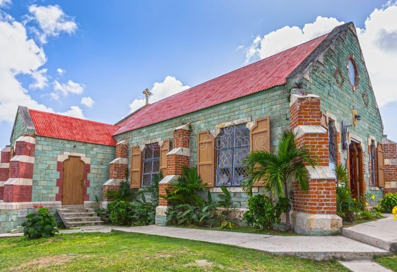 Англиканская церковь St Barnabas на Антигуе, Вест-Индиях стоковое изображение