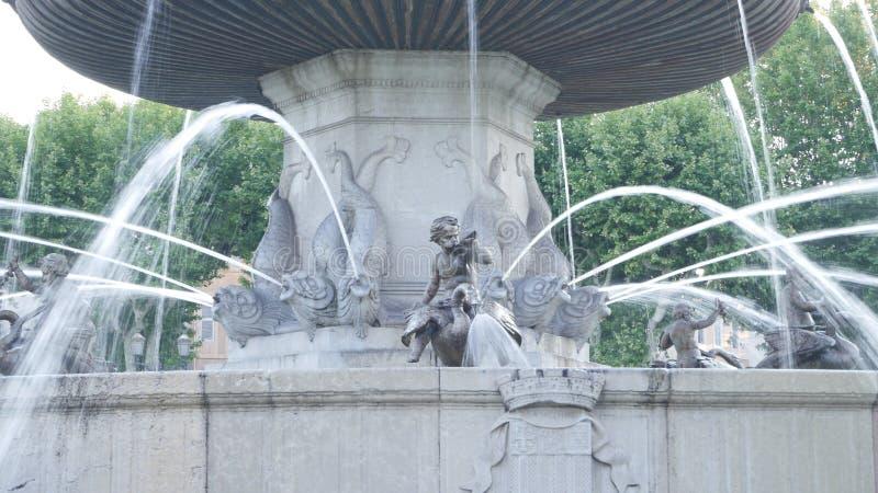 Анджел в фонтане AIX стоковые изображения