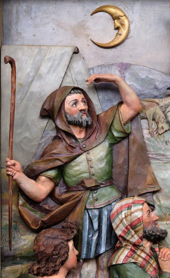 Анджел лорда навестили чабаны и информированное они рождения ` Иисуса стоковое изображение rf
