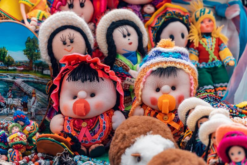 Андийские ремесла куклы - Cajamarca Перу стоковые фото