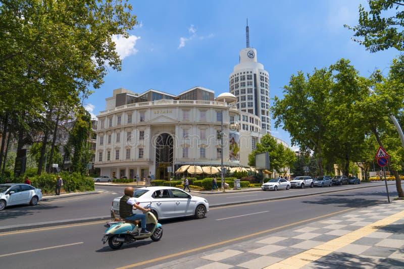 Анкара/Турция 7-ое июля 2019: Гостиница Sheraton и магазин Beymen в районе Kavaklidere стоковые изображения